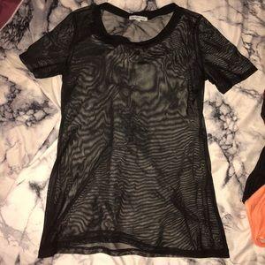 Charlotte Russe sheer mesh top